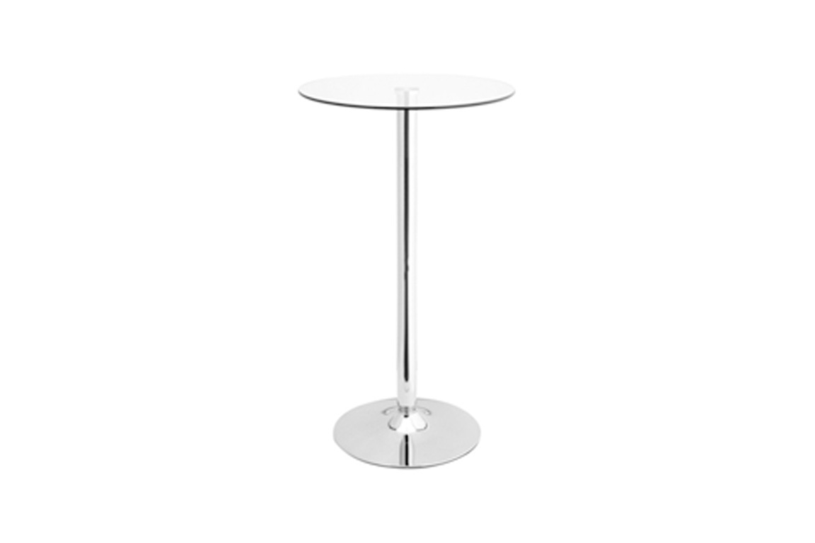 mesa alta copa cristal